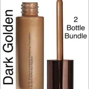 Becca 2 Bottle Fountain Bundle in Dark Golden